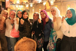 egyptian women workshop fists